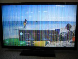 reparatie tv cu dungi